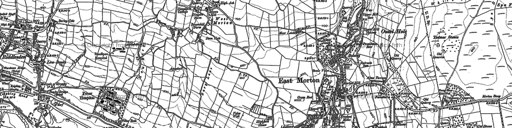 Old map of Whetstone Allotment in 1891