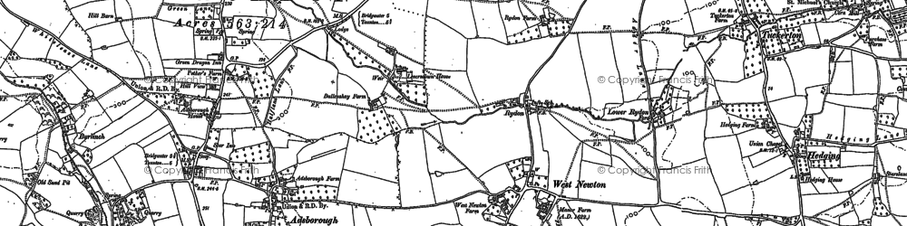 Old map of West Newton in 1886
