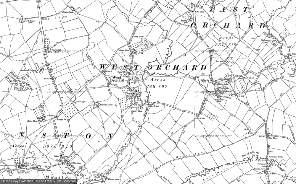 Old Map of West Orchard, 1900 in 1900