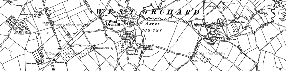 Old map of West Orchard in 1900