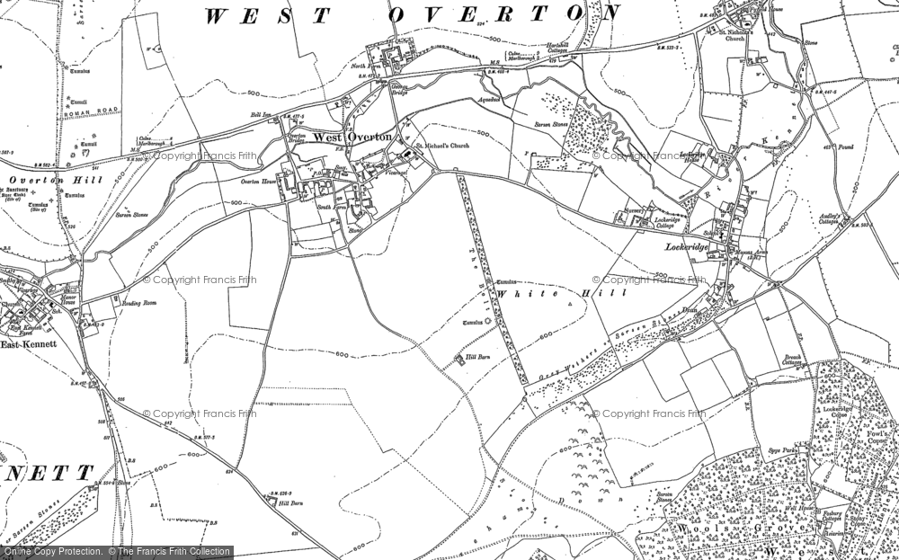 Old Map of West Overton, 1899 in 1899