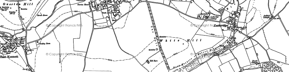 Old map of West Overton in 1899
