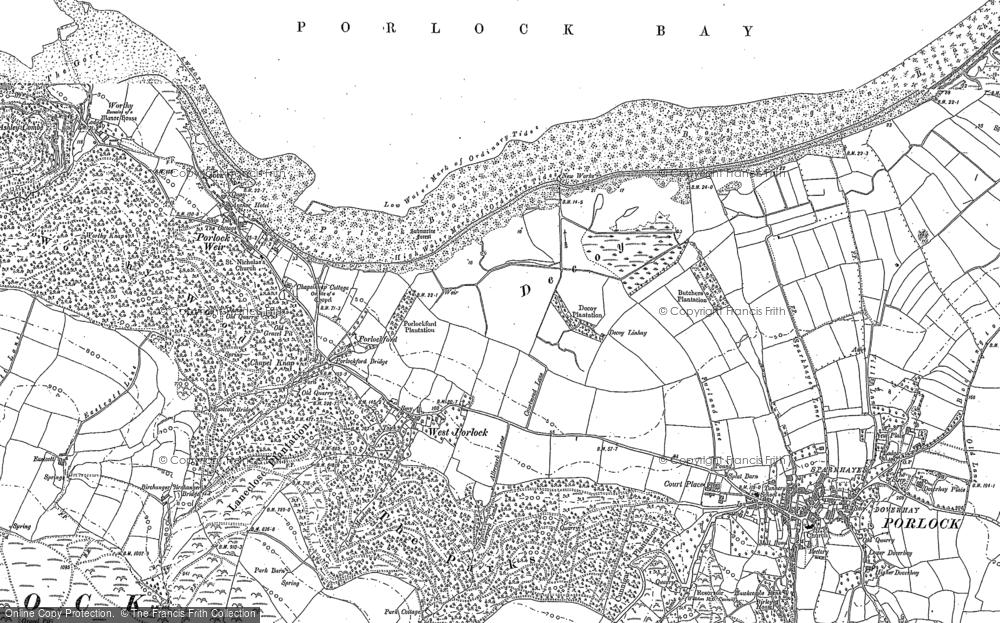Old Map of West Porlock, 1902 in 1902