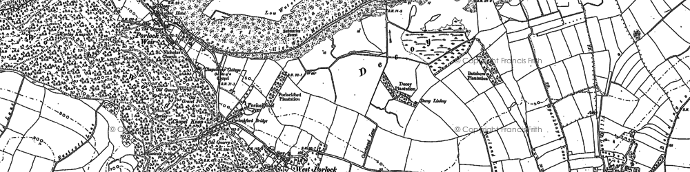 Old map of West Porlock in 1902