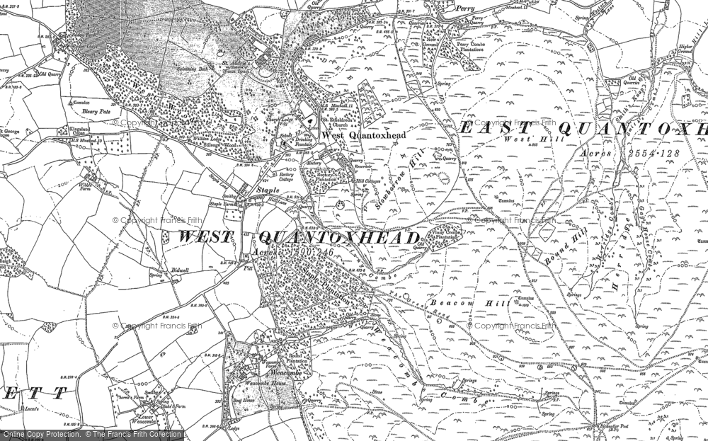 Old Map of Historic Map covering Amitabha Buddhist Centre in 1886