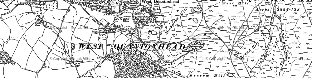 Old map of West Quantoxhead in 1886