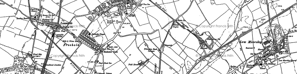 Old map of West Rainton in 1895
