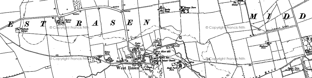 Old map of West Rasen in 1885
