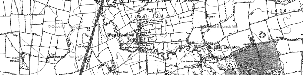 Old map of West Rounton in 1892