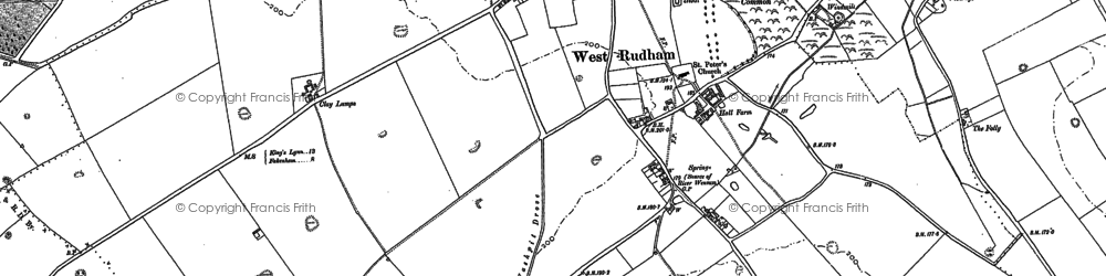 Old map of West Rudham in 1885