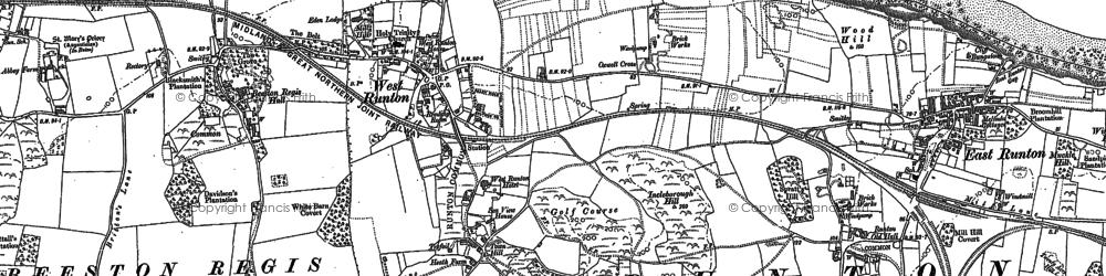 Old map of West Runton in 1905