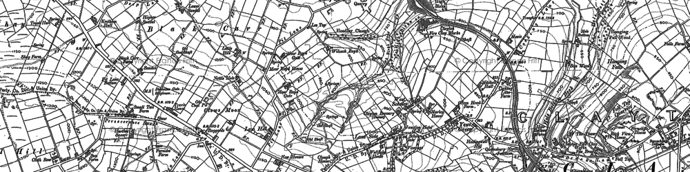 Old map of West Scholes in 1891