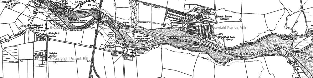 Old map of West Sleekburn in 1896