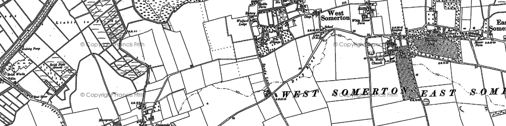 Old map of West Somerton in 1883