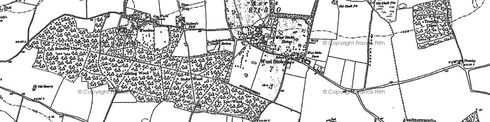 Old map of West Stoke in 1874
