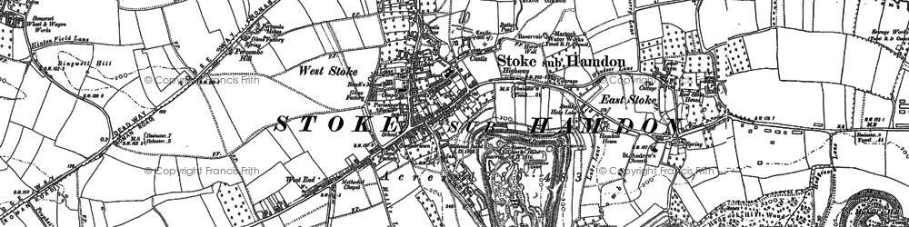 Old map of West Stoke in 1886