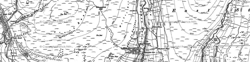 Old map of West Stones Dale in 1891