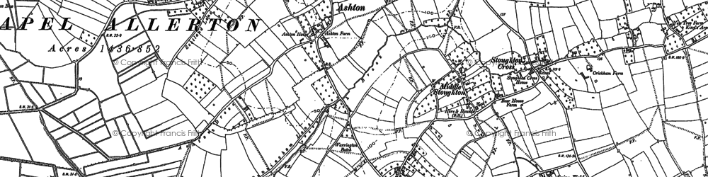 Old map of West Stoughton in 1884