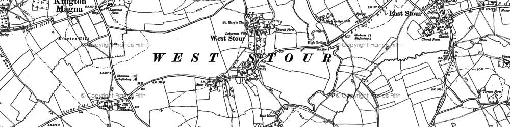 Old map of West Stour in 1900