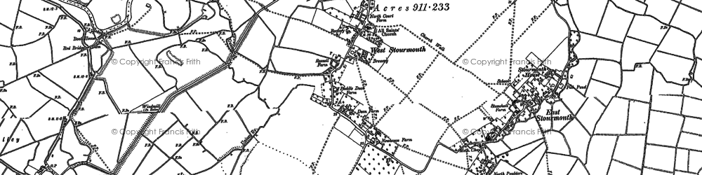 Old map of West Stourmouth in 1896