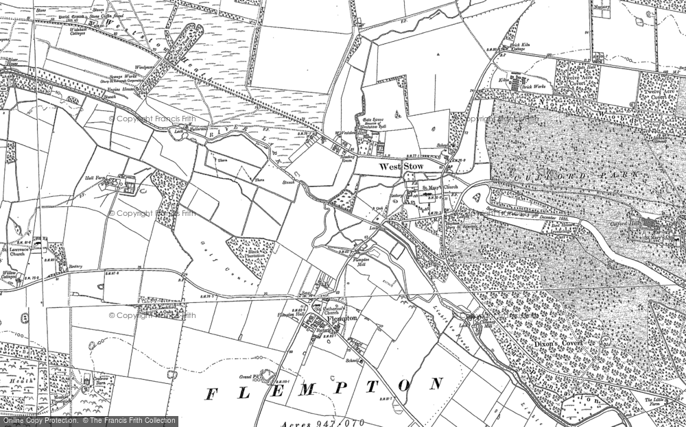 Old Map of Historic Map covering Ash Carr in 1882