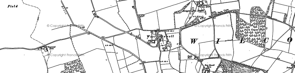 Old map of West Stowell in 1899