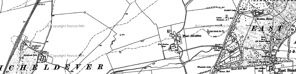 Old map of West Stratton in 1894
