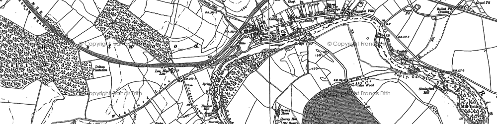 Old map of Westwood in 1890