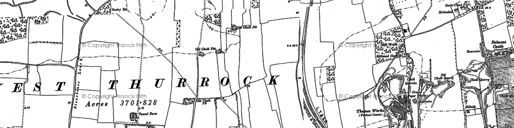 Old map of West Thurrock in 1895