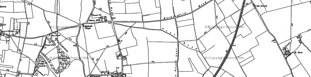 Old map of West Tilbury in 1895