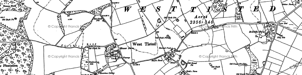 Old map of Ashen Wood Ho in 1895
