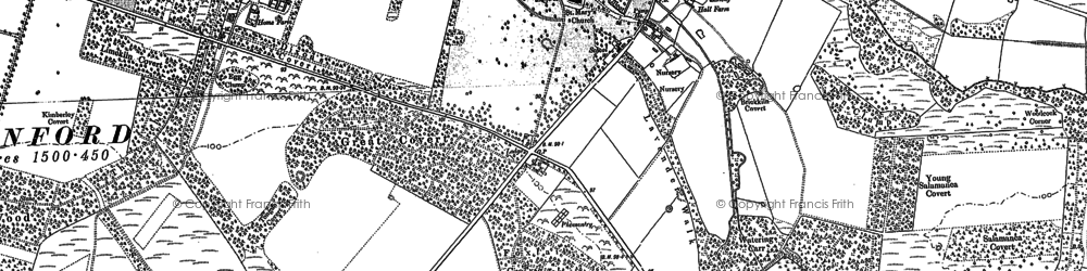 Old map of West Tofts in 1883
