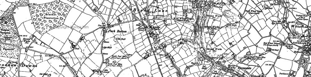 Old map of West Tolgus in 1878