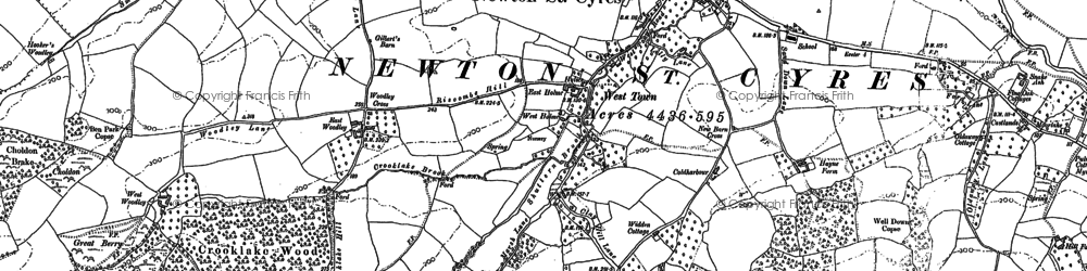 Old map of West Town in 1886