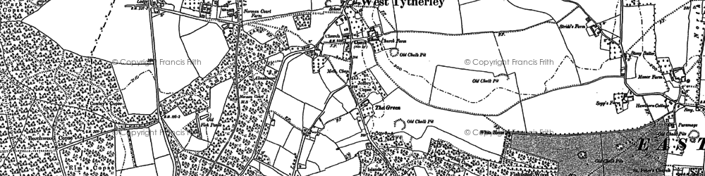 Old map of West Tytherley in 1895