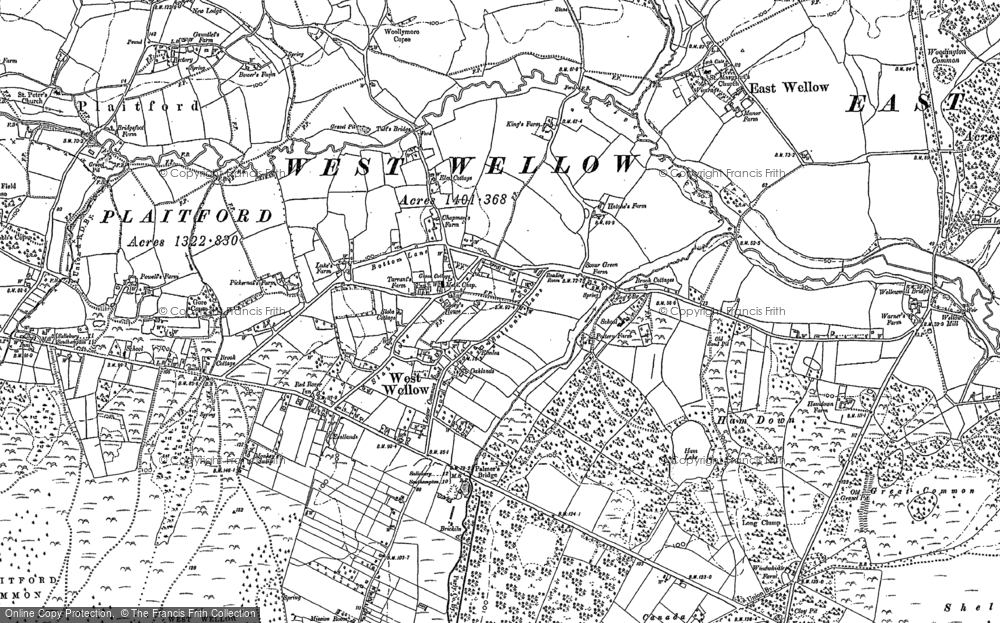 Old Map of West Wellow, 1895 - 1908 in 1895