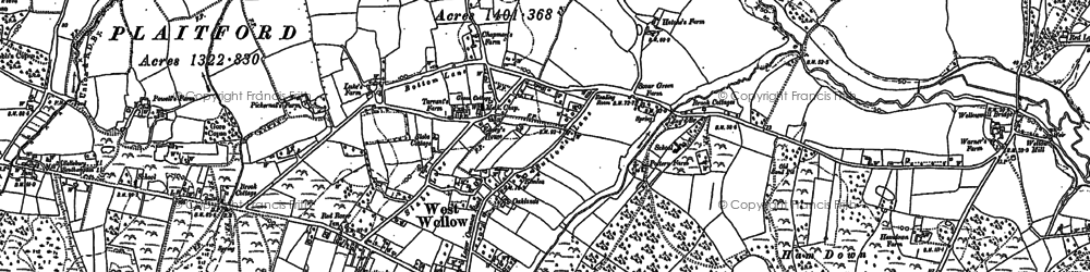 Old map of West Wellow Common in 1895