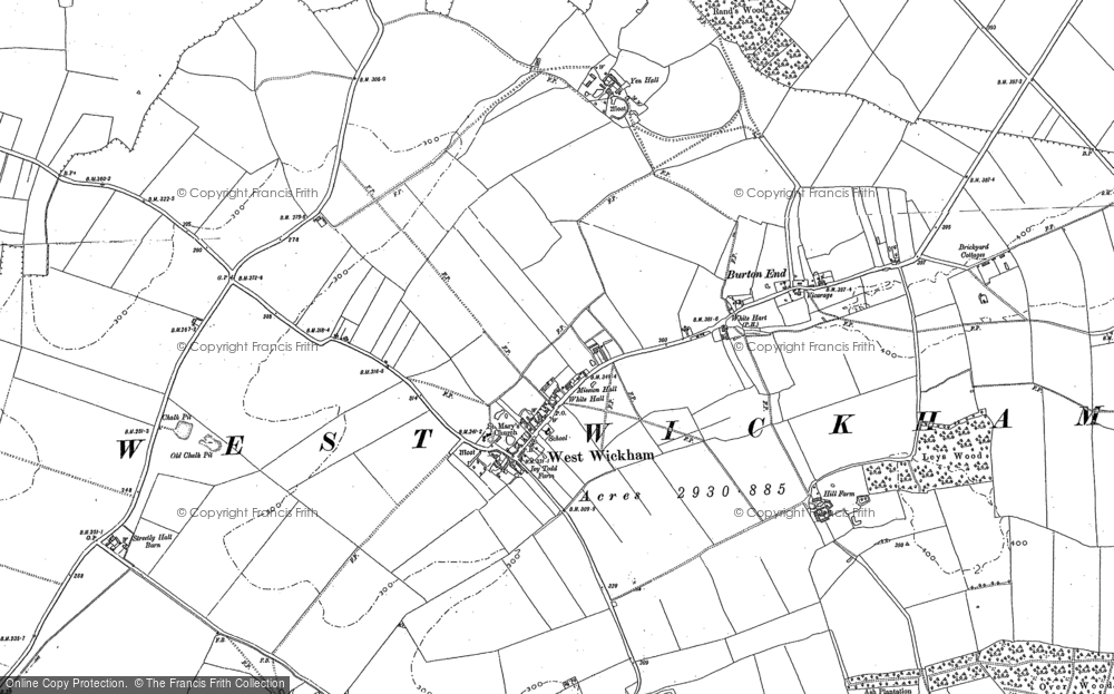 Old Map of West Wickham, 1885 - 1901 in 1885