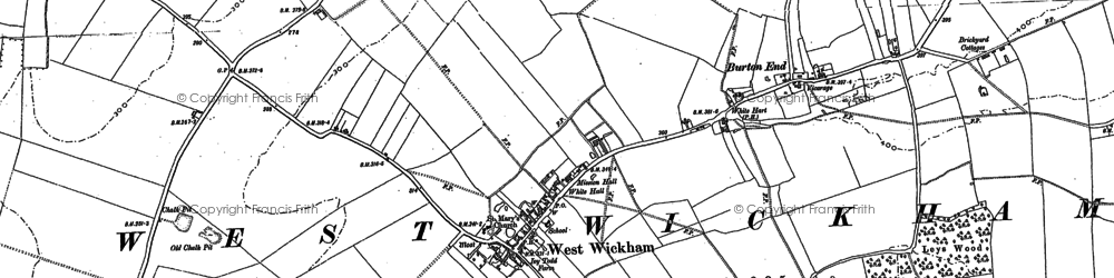Old map of West Wickham in 1885