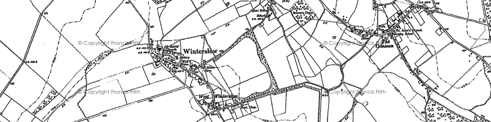 Old map of West Winterslow in 1908