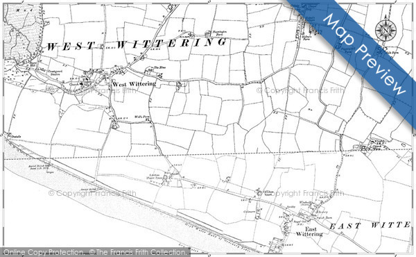 Map of West Wittering, 1898 - 1909