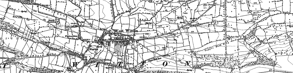 Old map of West Witton in 1891
