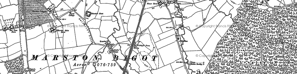 Old map of Alder Row in 1902