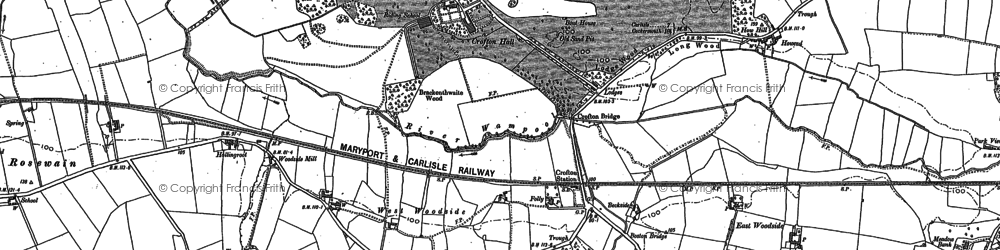 Old map of West Woodside in 1899