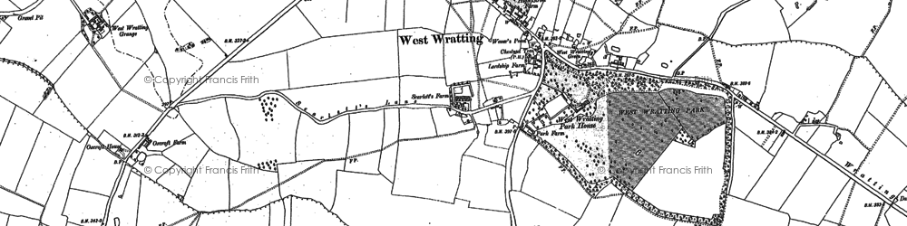 Old map of West Wratting Park in 1885