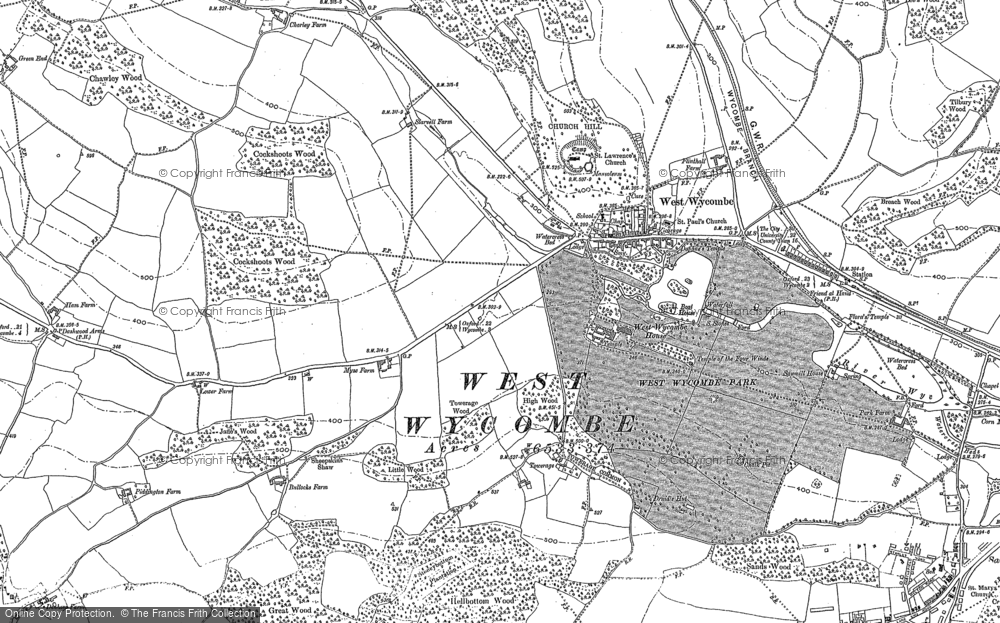Map of West Wycombe, 1897
