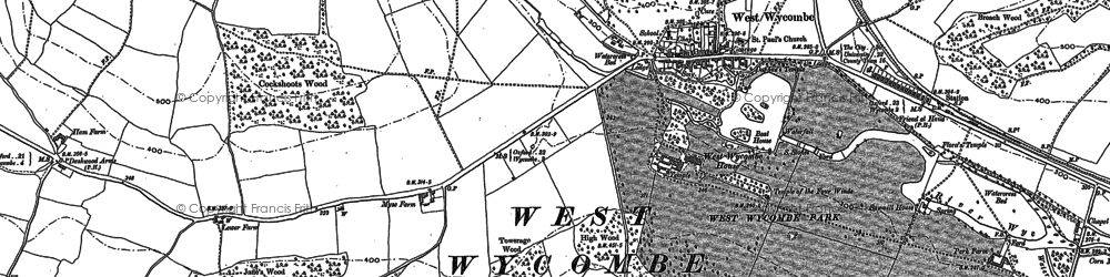 Old map of West Wycombe in 1897