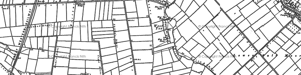 Old map of West Yeo in 1885