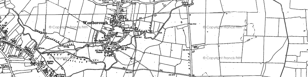 Old map of Westborough in 1886