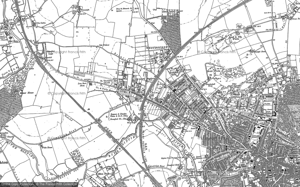 Old Map of Westbourne, 1881 - 1882 in 1881